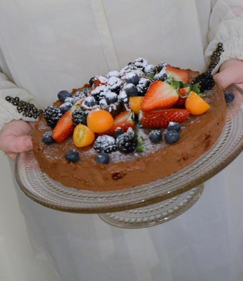 Semifreddo med Choklad och Körsbär