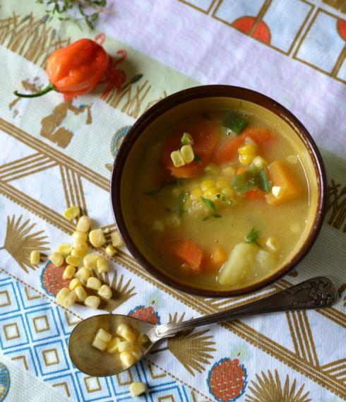 Caribbean Corn Soup